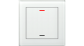 KNX Glass Push Button II Lite 1-Fold RGBW White