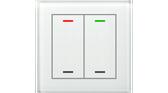 KNX Glass Push Button II Lite 2-Fold RGBW White