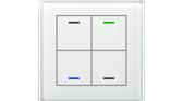 KNX Glass Push Button II Lite 4-Fold RGBW White