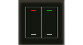 Glass Push Button II Smart Black