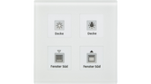 Glass Push Button Plus 4-Fold White