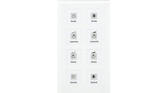 Glass Push Button Plus 8-Fold White