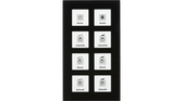 Glass Push Button Plus 8-Fold Black