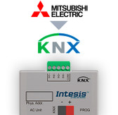 Mitsubishi Electric to KNX Interface with Binary Inputs - 1 unit