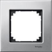 Metal Frame 1-Gang Platinium Silver M-Elegance