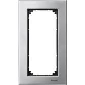 Metal Frame 2-Gang Platinium Silver M-Elegance