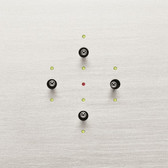 ANNA CARRE - 4 LEVERS (DOUBLE PUSH-BUTTON) KNX WITH LEDS INTEGRATED TEMP & HUMIDITY SENSOR