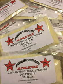 Vanilla Whey Isolate Protein Powder Single Serving