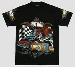 Pinstripe hotrod t-shirt