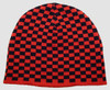 Check S black-red mix beanie