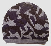 Army blue mix beanie