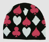Poker pink mix beanie