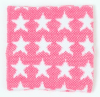 Stars pink-white sweat band accessory