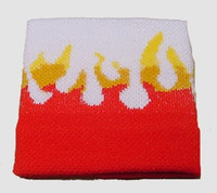 Flame white sweat band accessory