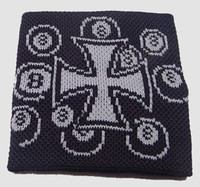 Herocross 8 black-white sweat band accessory