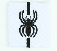 Spider stripe white sweat band accessory
