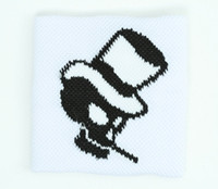 Skull hat white sweat band accessory