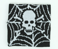 Spiderweb black sweat band accessory
