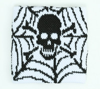 Spiderweb white sweat band accessory