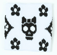 Cute Sk flower white-black sweat band accessory