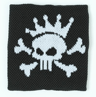Punk Sk black sweat band accessory