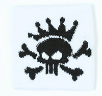 Punk Sk white sweat band accessory