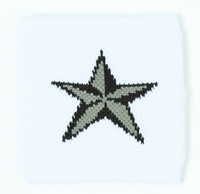 3D Star white/ black-grey sweat band accessory