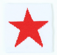 Star white-red sweat band accessory