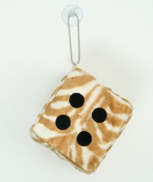 Dice zebra L brown-white / black 1 dice car accessory