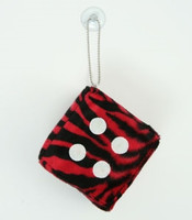 Dice zebra red-black / white 1 dice car accessory