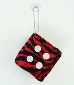 Dice zebra red-black / white 1 dice car accessory