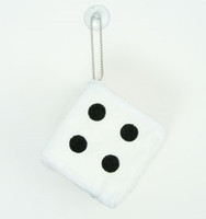 Dice white / black 1 dice car accessory