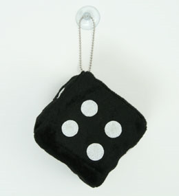 1 dice black / white 1 dice car accessory