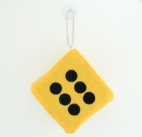 1 dice yellow / black 1 dice car accessory