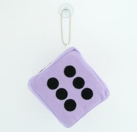 Dice L purple / black 1 dice car accessory