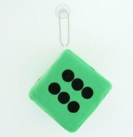 Dice green / black 1 dice car accessory