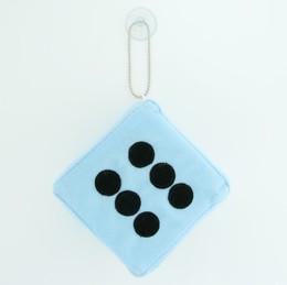 Dice L blue / black 1 dice car accessory