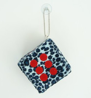 1 Dice leopard blue / red 1 dice car accessory