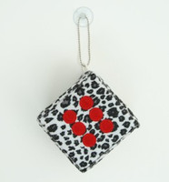 1 Dice leopard white / red 1 dice car accessory