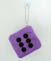 1 Dice D-purple / black 1 dice car accessory