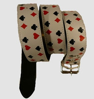 Poker S white mix belt