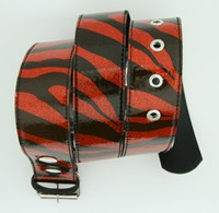 Zebra red mix belt