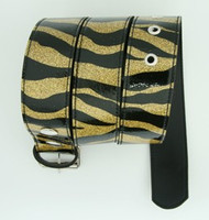 Zebra gold mix belt