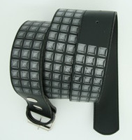 Studs print black mix belt