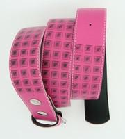 Studs print pink mix belt