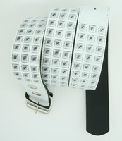 Studs print white mix belt