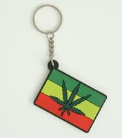 Marijuana squared colorful key ring