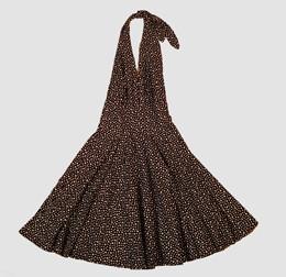 Star big / small black marilyn dress