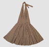 Check black-white big marilyn dress