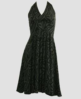 Front - Zebra grey marilyn dress
